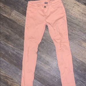 Peach Colored Vanity Skinny Jeans (M)